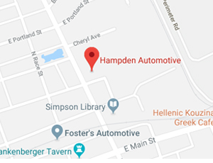 Hampden Automotive Map