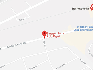 Simpson Ferry Auto Repair Map